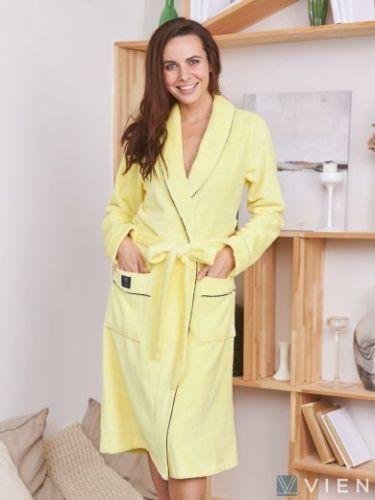 Женский махровый халат Trendy лимонад