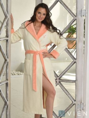 Женский бамбуковый халат Arianna персик