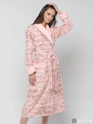 Женский бамбуковый халат Cleopatra персиковый