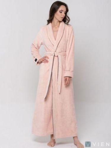 Женский махровый халат Elegance Line пудра