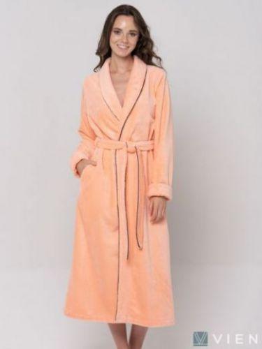 Женский бамбуковый халат Good Night персик