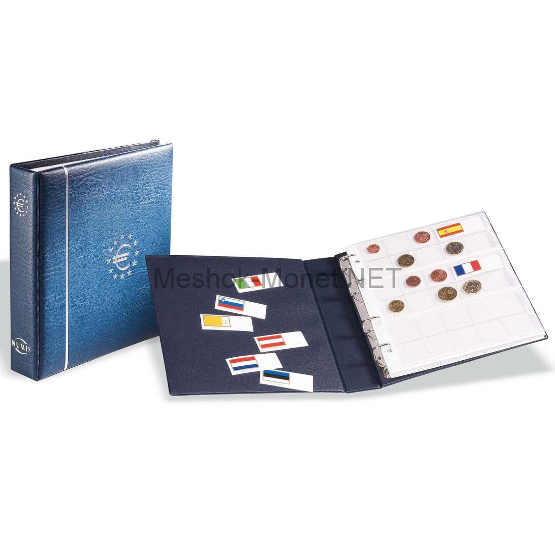 """Альбом серии """"NUMIS"""" для монет евро с 6 листами"""