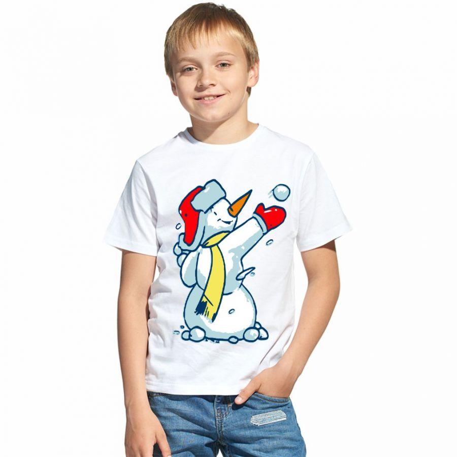 Снеговик футболка детская для мальчика