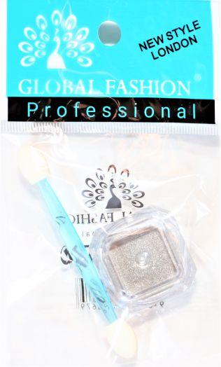 Зеркальная втирка Глобал Фэшн MIRROR GLASS POWER серебро