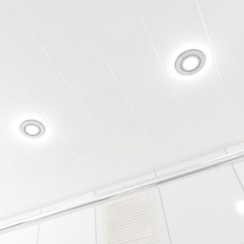 Подвесной реечный потолок матовый