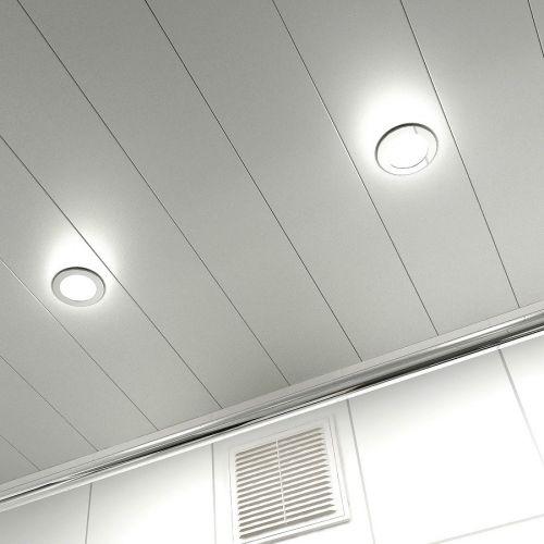 реечный потолок металлик серебристый