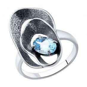 Кольцо из серебра с топазом 92011983 SOKOLOV