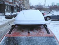 Автомобильный бокс на крышу, Bonus Black 425 литров, белый матовый