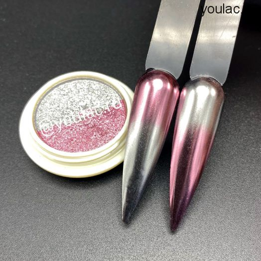 Запечённая втирка Youlac pink+silver- новинка 2021