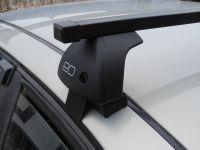 Багажник на крышу Hyundai Sonata седан 1998-2011г IV (EF), Евродеталь, стальные прямоугольные дуги