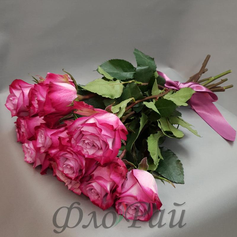 11 цветных роз