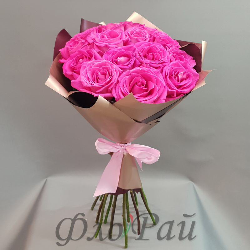 Букет 15 цветных роз