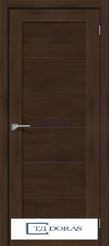 Межкомнатная дверь с экошпоном Легно-21 Dark Oak