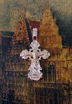 Позолоченный ажурный крест (арт. 250307)