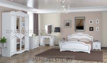 Спальня Лотос лак жемчуг белый