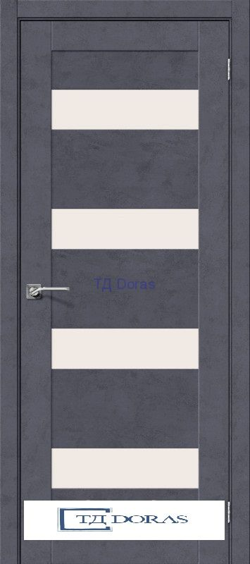 Межкомнатная дверь с экошпоном Легно-23 Graphite Art