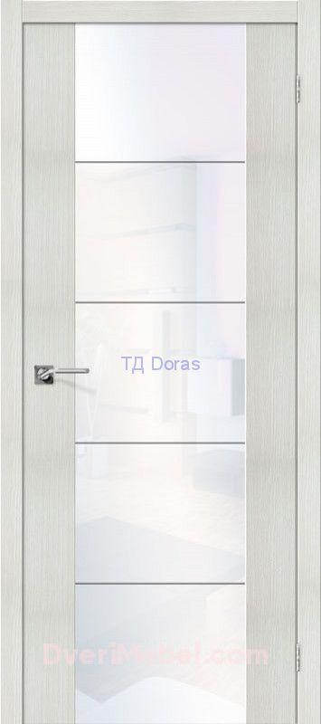 Межкомнатная дверь с экошпоном V4 WW Bianco Veralinga
