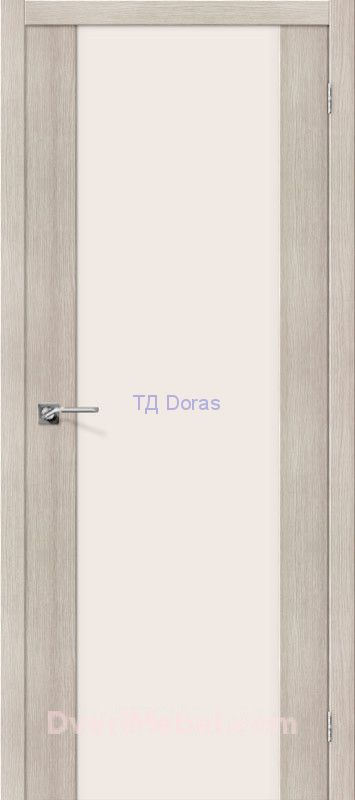 Межкомнатная дверь с экошпоном Порта-13 Cappuccino Veralinga