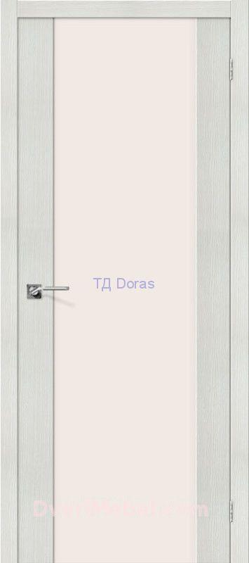 Межкомнатная дверь с экошпоном Порта-13 Bianco Veralinga