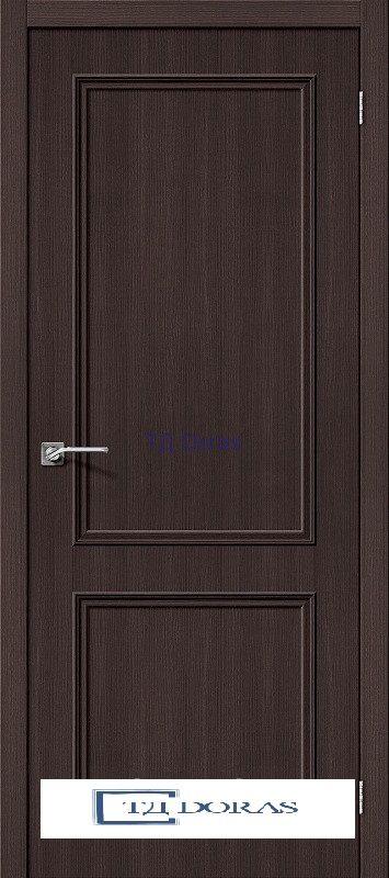 Межкомнатная дверь с экошпоном Симпл-12 Wenge Veralinga