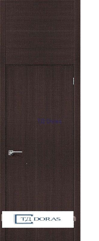 Межкомнатная дверь с экошпоном Гулливер Порта-50 Wenge Crosscut