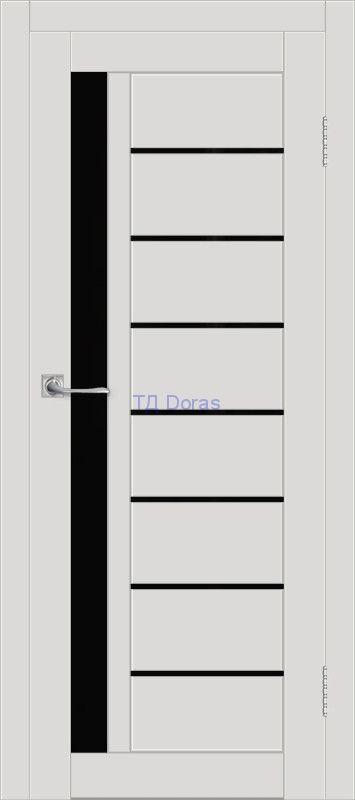 Межкомнатная дверь ДП DIM I-2 Smoky Matt Lacobel Black