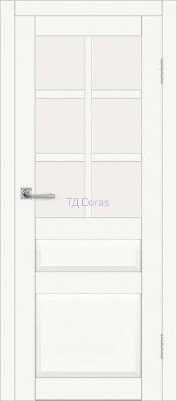 Межкомнатная дверь ДП DIM I-12 Crystal Matt Сатинато Белый