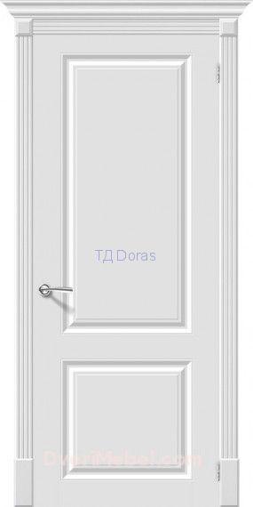 Межкомнатная окрашенная дверь эмаль Скинни-12 Whitey