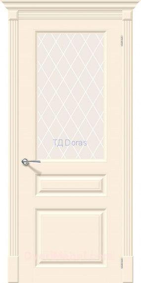 Межкомнатная окрашенная дверь эмаль Скинни-15.1 Cream