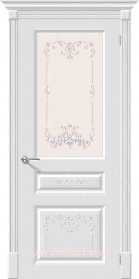 Межкомнатная окрашенная дверь эмаль Скинни-15.1 Аrt Whitey