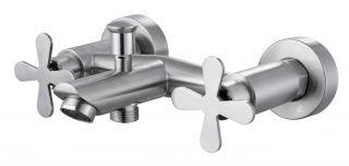 Смеситель для ванны с коротким изливом без душевого набора Fmark FS8504 сатин