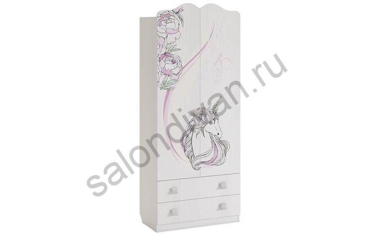 Шкаф комбинированный 2-створчатый с ящиком Фэнтези