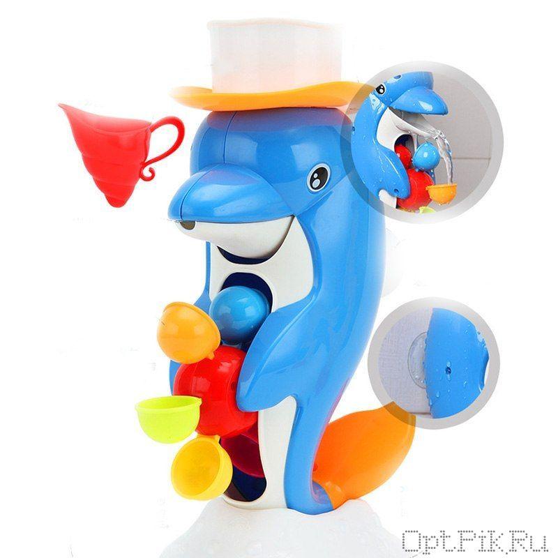 """Игрушка для купания """"Дельфин с водяной мельницей"""""""