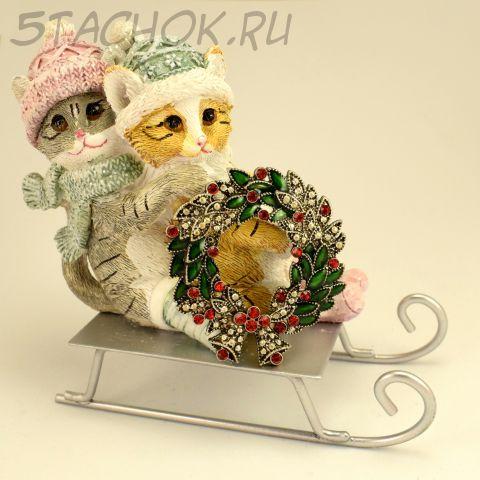 """Брошь """"Рождественский венок"""" (KC США)"""