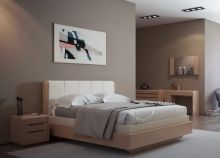 Кровать LYONA 180х200 дуб с механизмом