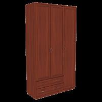 Шкаф для белья со штангой, полками и ящиками арт. 114 (итальянский орех)