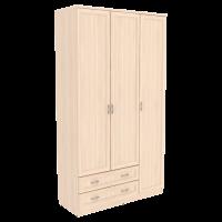 Шкаф для белья со штангой, полками и ящиками арт. 114 (молочный дуб)