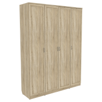 Шкаф для белья со штангой и полками арт. 109 (дуб сонома)