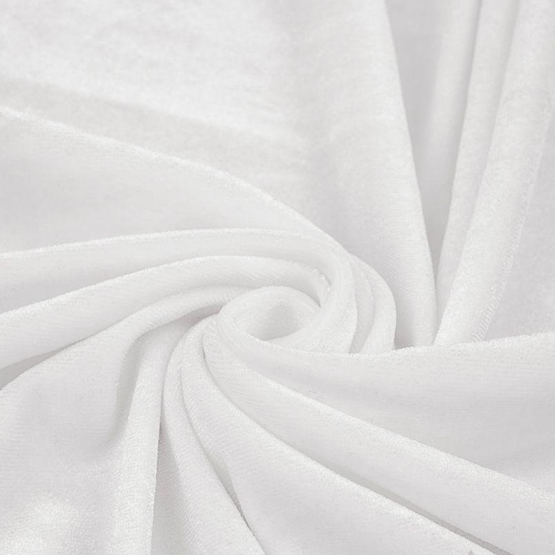 Бархат стрейч - Белый 50х37