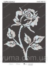ЮМА ЮМА-4501б Серебряная Роза схема для вышивки бисером купить оптом в магазине Золотая Игла - вышивка бисером