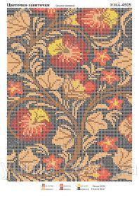 ЮМА ЮМА-4505 Цветочки-Завиточки схема для вышивки бисером купить оптом в магазине Золотая Игла - вышивка бисером