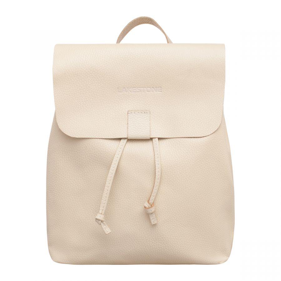 Кожаный рюкзак Lakestone Abbey Light Beige