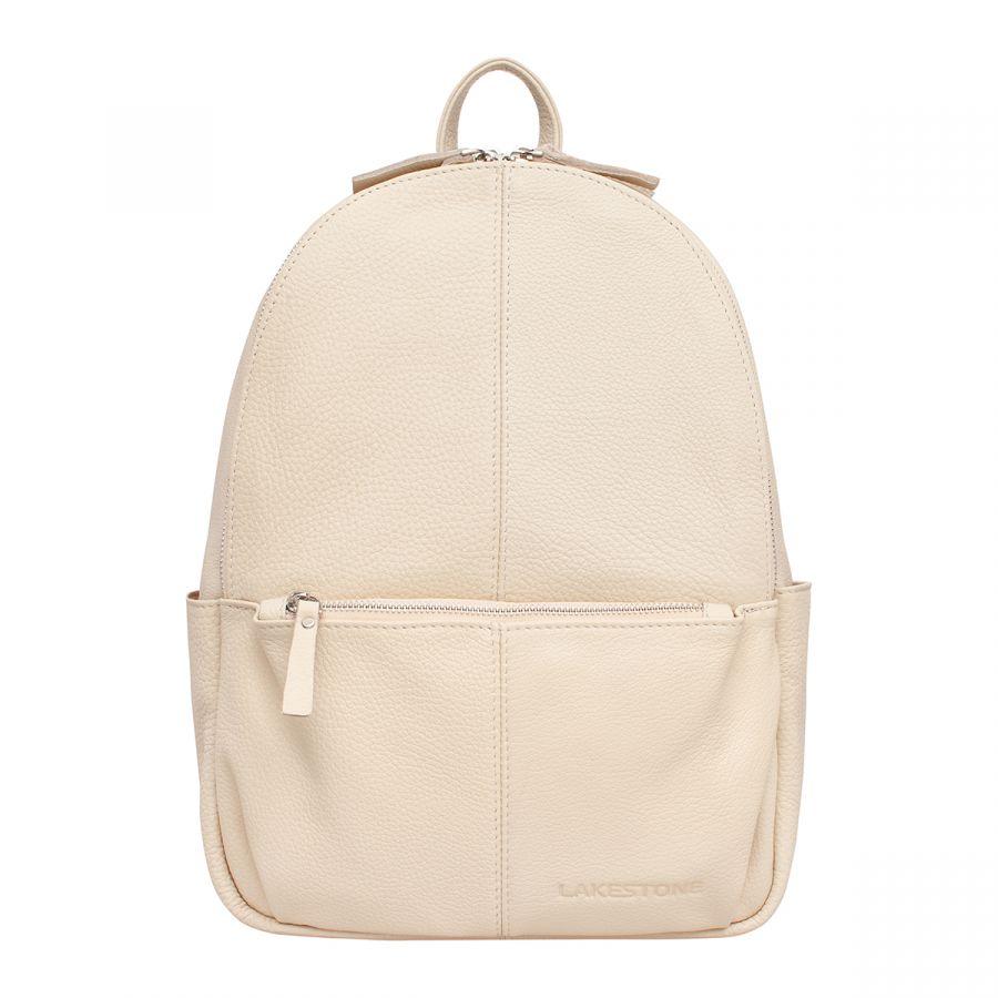 Кожаный рюкзак Lakestone Belfry Light Beige