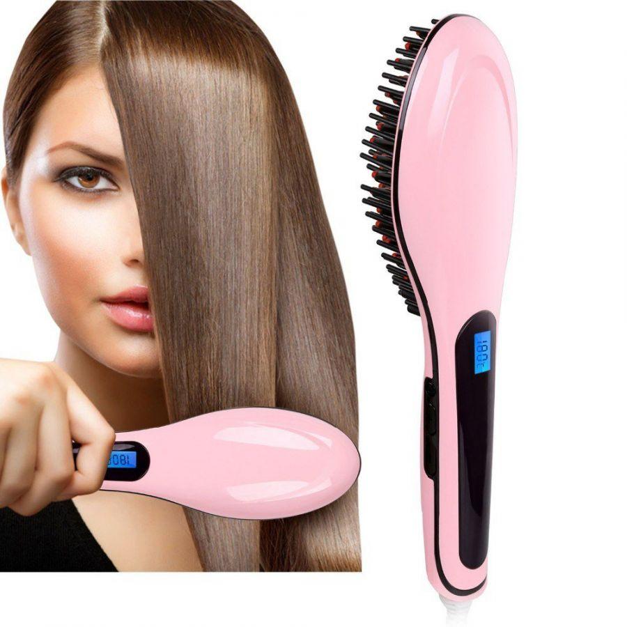 Расческа-фен, выпрямитель Fast Hair Straightener 2-а в одном.