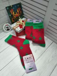 Махровые женские носки С207 Ёлочки