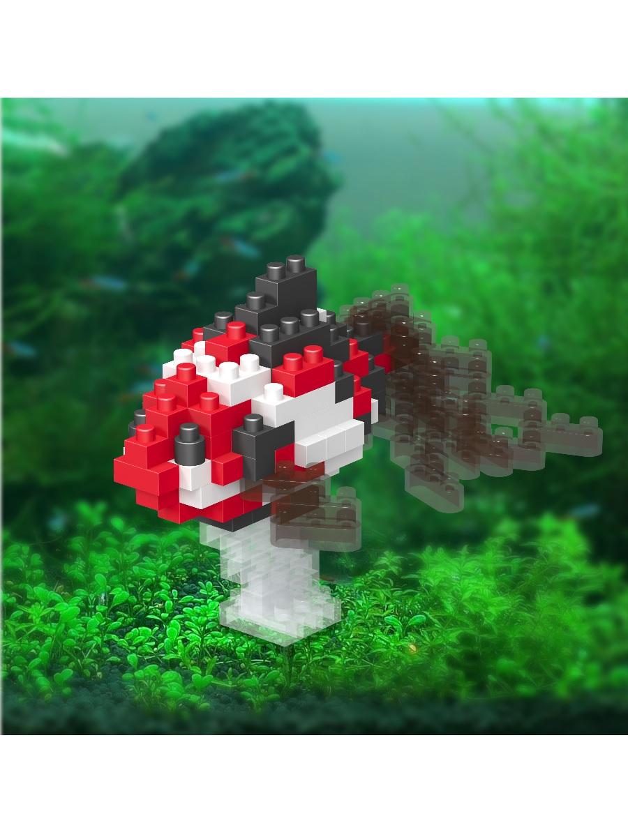 Конструктор Wisehawk & LNO Рыбка 131 деталь NO. C14 Wakin goldfish black Gift Series