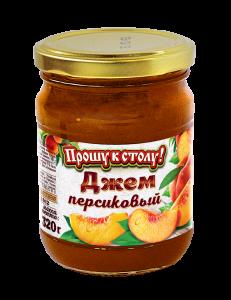 Джем ПРОШУ К СТОЛУ 320г ГОСТ Персик с/б