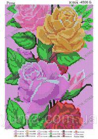 ЮМА ЮМА-4506б Розы схема для вышивки бисером купить оптом в магазине Золотая Игла - вышивка бисером