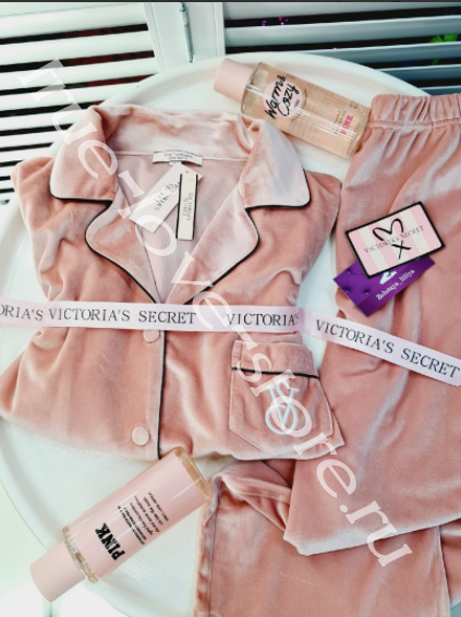 1/2-D021-2 - пижамка двойка бархат Victoria's Secret