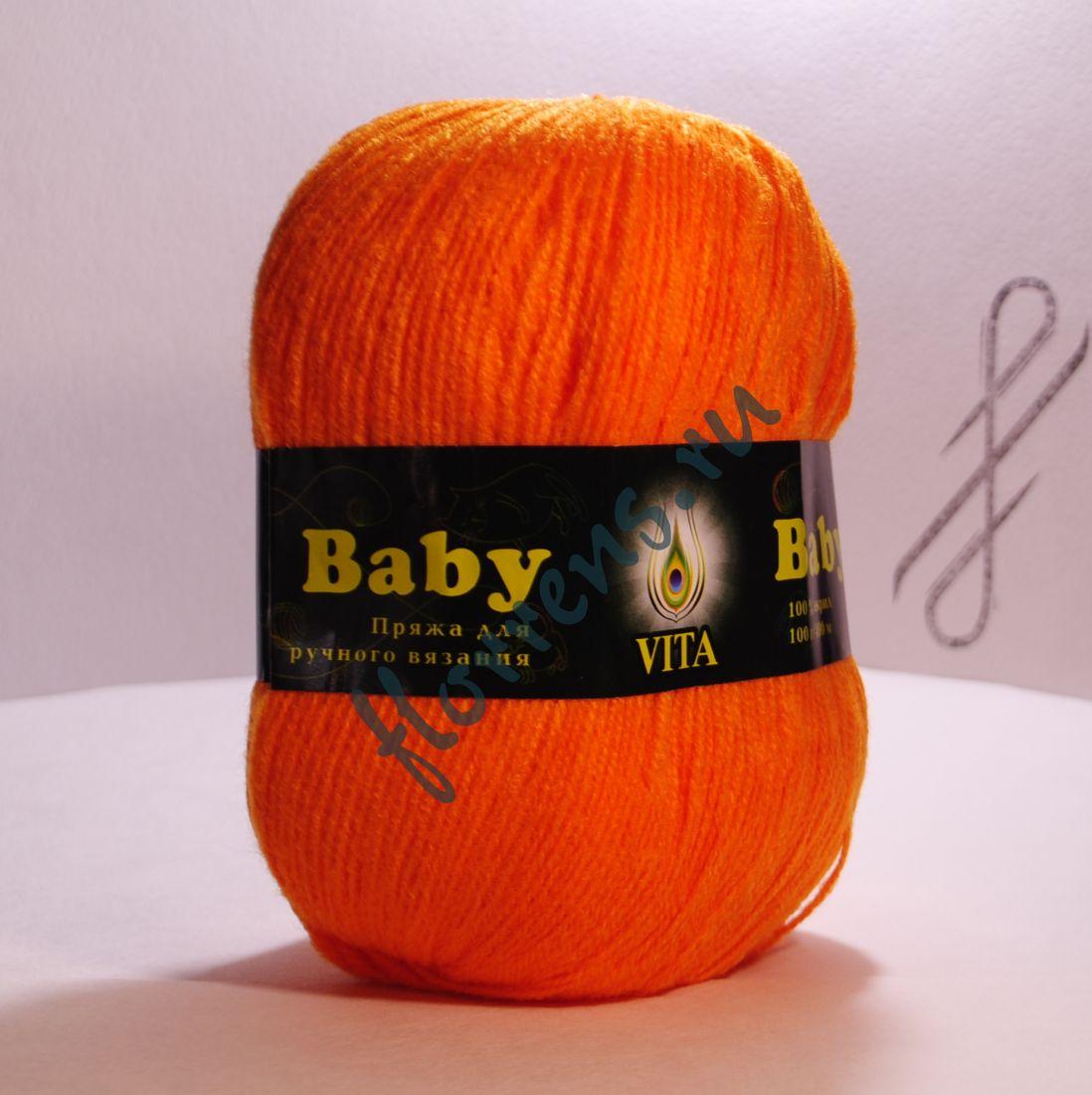 Пряжа Baby / 2865 оранжевый